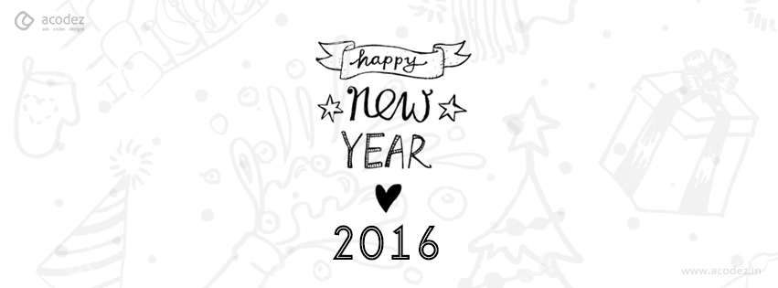 an awesome new year wish new year facebook cover photo 2016