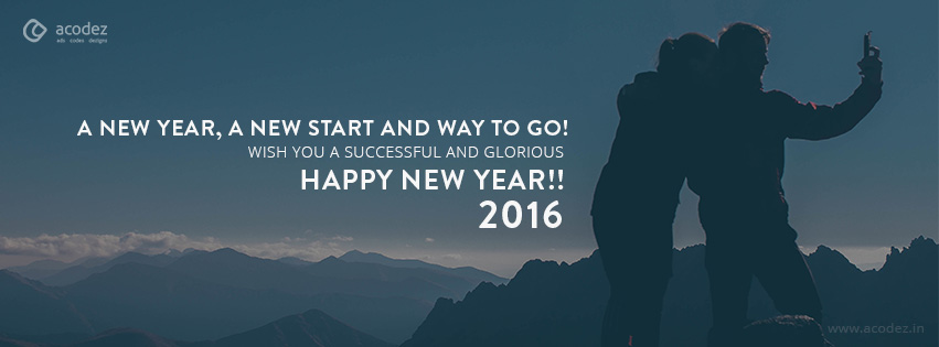 travel theme new year facebook cover photo 2016