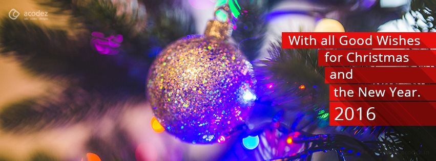 christmas ball new year facebook cover photo 2016